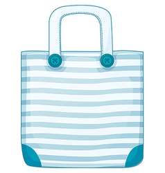 A blue handy bag vector