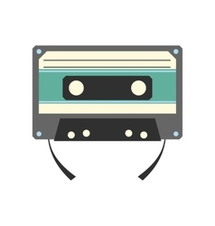 Audio compact cassette flat icon vector