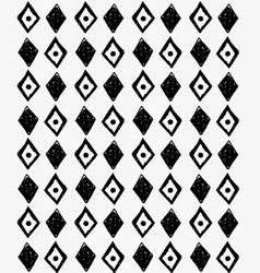 Black marker scribbled diamonds and dots vector
