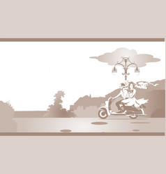 Bridal pair scooter vector