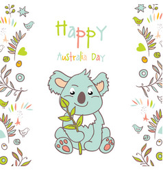 Celebratory australia day background vector
