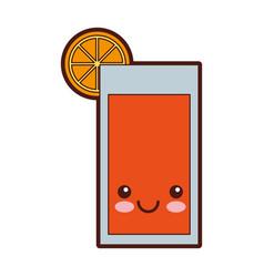 citrus juice fruit kawaii character vector image