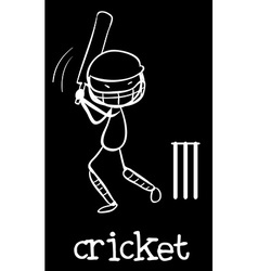 Cricket vector image