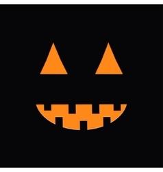 Cute funny pumpkin light in the night halloween vector