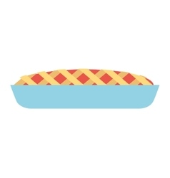 Delicious pie isolated icon design vector