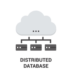 distributed database icon vector image