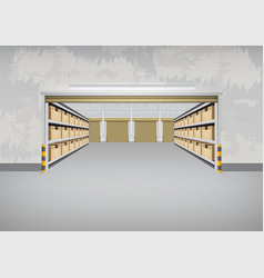 Empty warehouse building vector