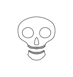 Halloween skull icon outline style vector