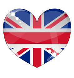 hear britain flag vector image vector image