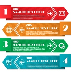 Infographic four lines vector image