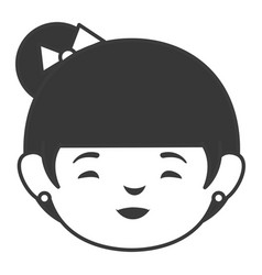 Japanese woman avatar character vector