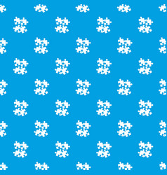 jigsaw puzzles pattern seamless blue vector image