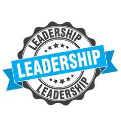 Leadership stamp sign seal vector