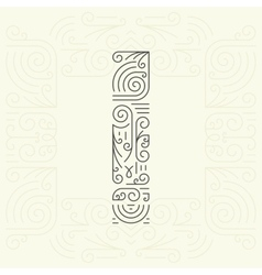Letter I Golden Monogram Design element vector image vector image