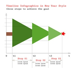New yearchristmas timeline info graphics vector