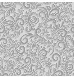Paper 3d floral pattern vector