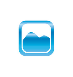 picture of landscape symbol vector image