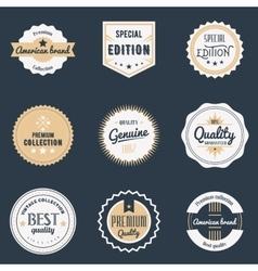 Premium quality labels set Brands design elements vector image vector image