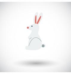 Rabbit single icon vector
