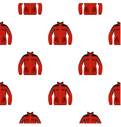Red sweatshirt with a zipper pattern seamless vector