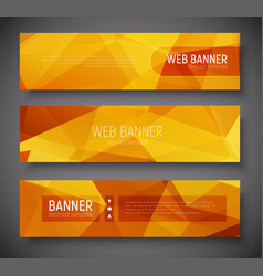 web banner standard size template abstract vector image vector image