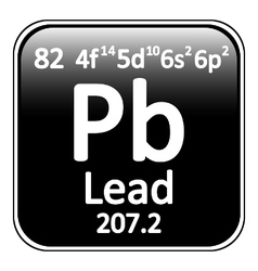Periodic table element lead icon vector image