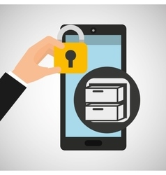Smartphone files security graphic vector