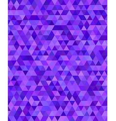 Purple triangle mosaic background design vector