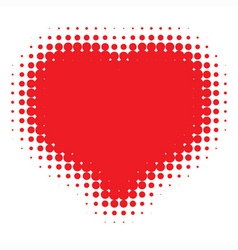 Red heart halftone vector