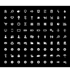 Set of 90 web icons vector