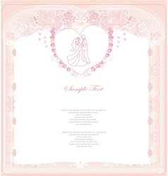 Invitation wedding dancing couple background vector