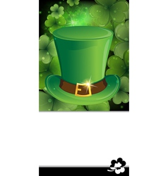 Leprechaun hat with buckle vector