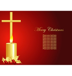 Christmas candle art vector