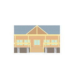 Flat design wooden log building vector