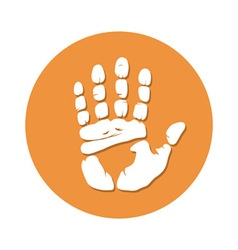 Hand imprint seamless vector