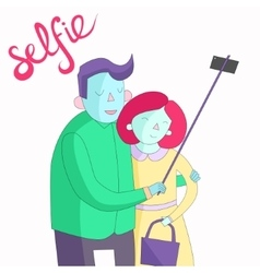 Selfie photo vivid color vector