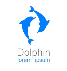 Dolphin sign vector