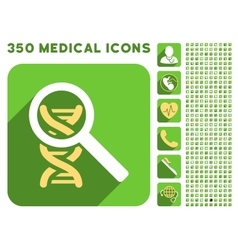 Explore dna icon and medical longshadow icon set vector