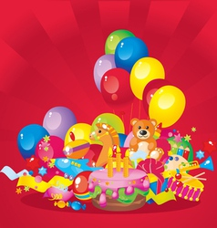 Childrens birthday vector