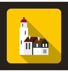Houses icon flat style vector