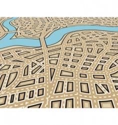 Angled city vector