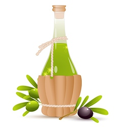 Bottle with olive oil vector image vector image