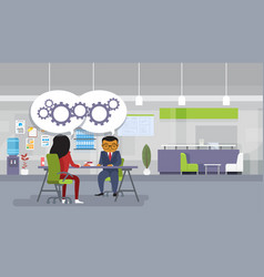brainstorming meeting asian business people vector image