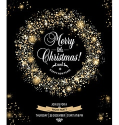 Christmas invitation card vector