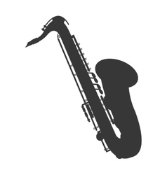 detailed saxophone icon vector image vector image