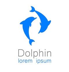 Dolphin sign vector