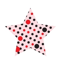 Dotted five pointed star icon vector