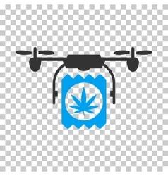 Drone Cannabis Delivery Icon vector image vector image
