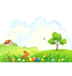 Easter scene vector image vector image