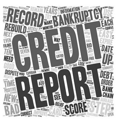 Easy steps to rebuild your credit after bankruptcy vector